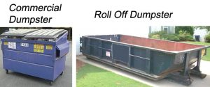 Residential and commercial dumpsters